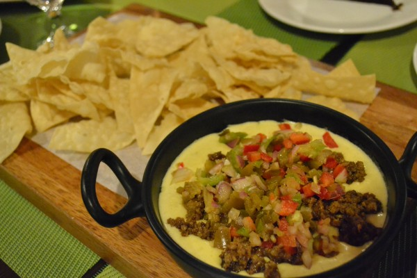 queso fundido with chips