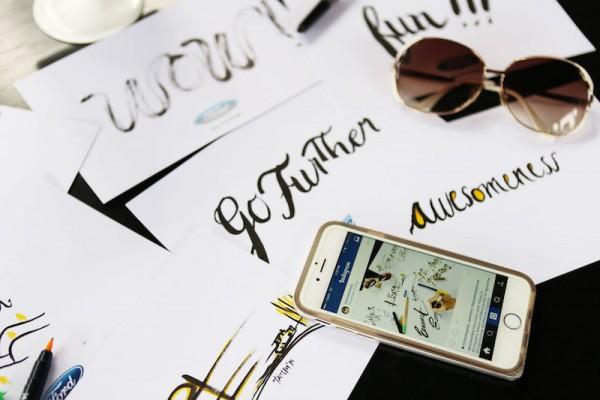Calligraphy Lesson at Qiwellness