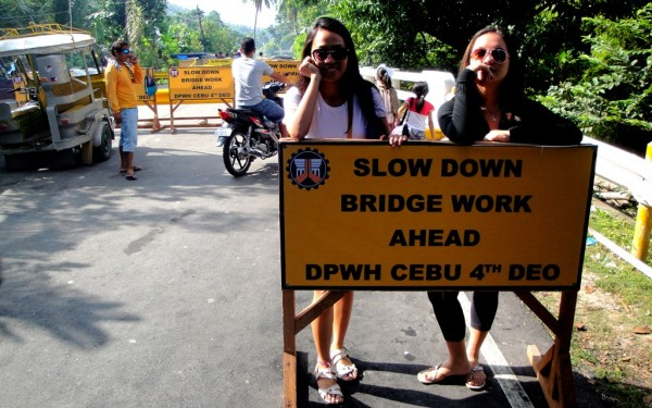 Bridge work at Malabuyoc