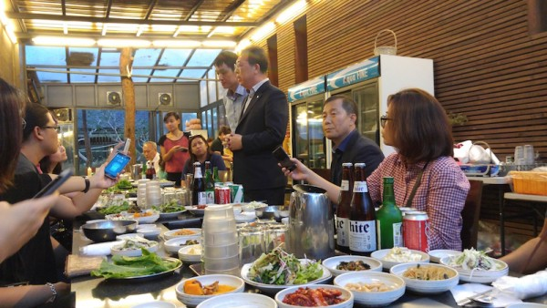 Dinner with the tourism officials of Gyeonggi Province and KTO