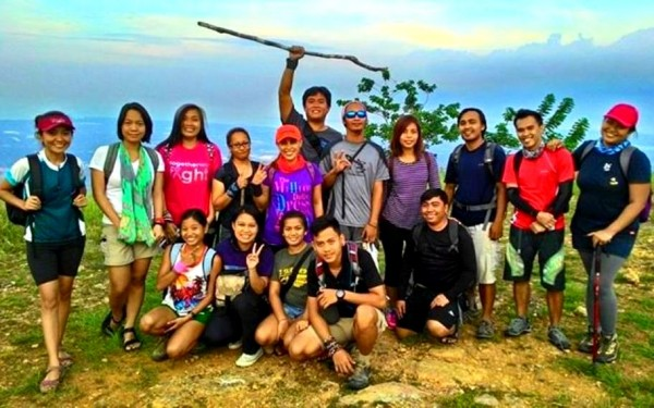 Groupie before descent