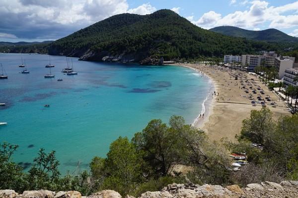 Ibiza Beach in Spain