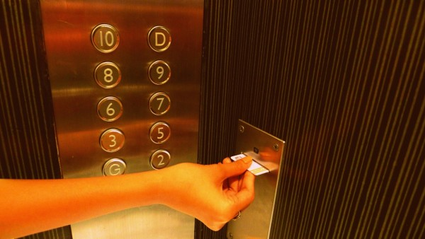 Keycard to move up the elevator