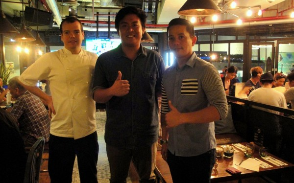 With chef Rob and Manager Jimmy