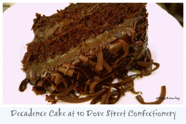 Decadence Cake at 10 Dove Street Confectionery