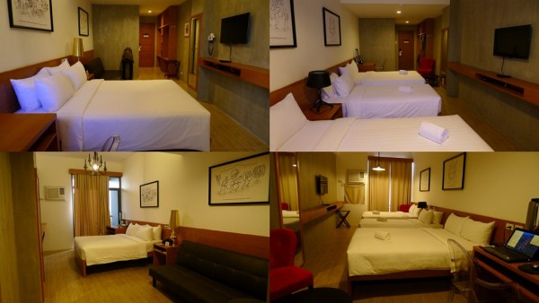 From left is the Executive Suite and the Deluxe Family Room
