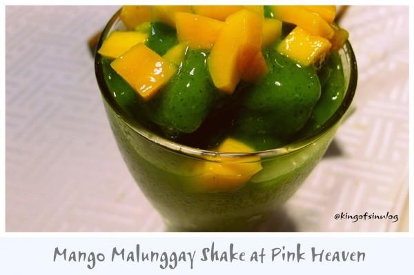 Mango Malunggay Shake at Pink Heaven