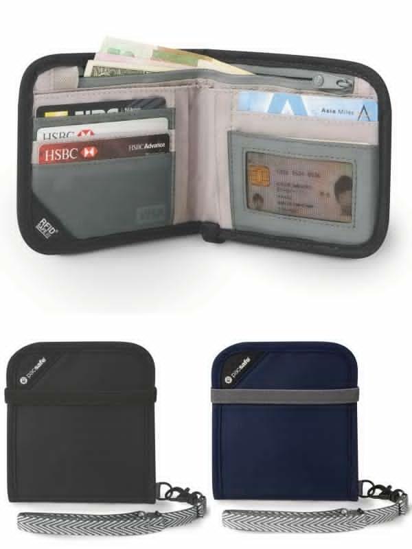 Pacsafe RFID safe V100 Bi-fold Wallet