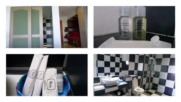Restroom and toiletries