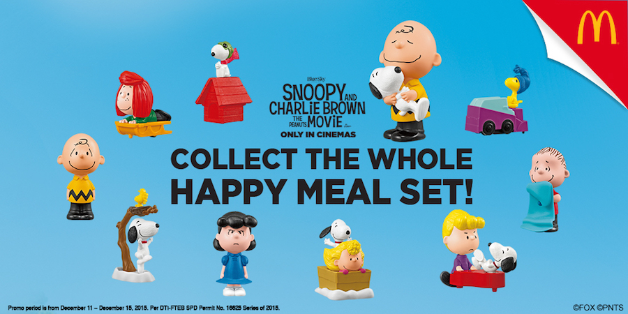 Snoopy and Charlie Brown Happy Meal Toys available soon at Mcdonalds ...