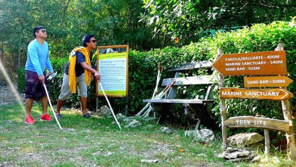 Bluewater Sumilon Island Resort Starting point of the trek site