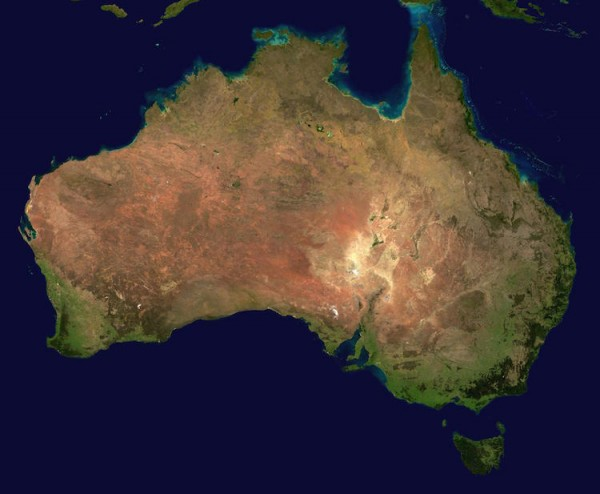 Australia from a Satellite