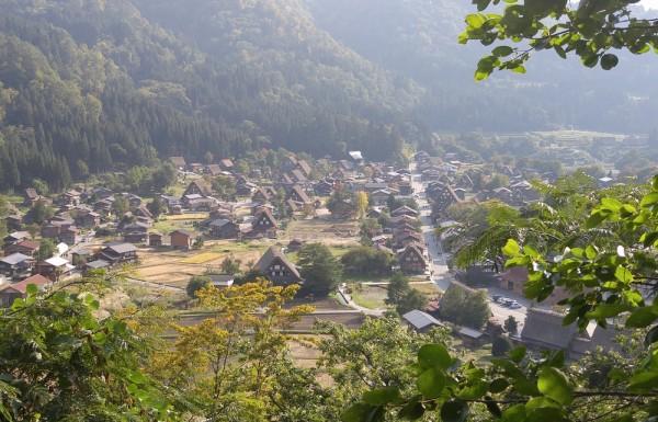 Birds-eye view of the villages of Shirakawa-go