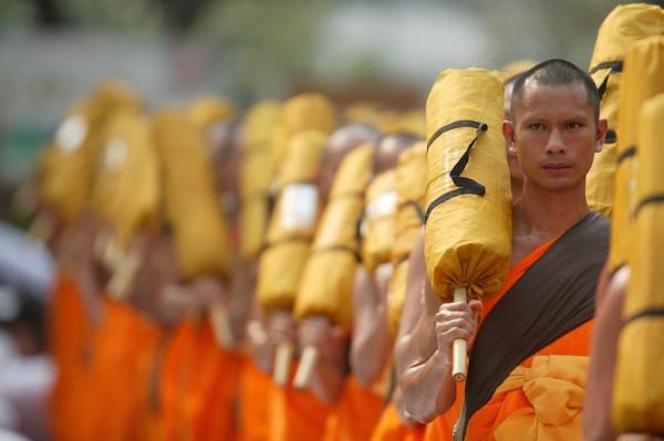 Buddhist Monks in Bangkok