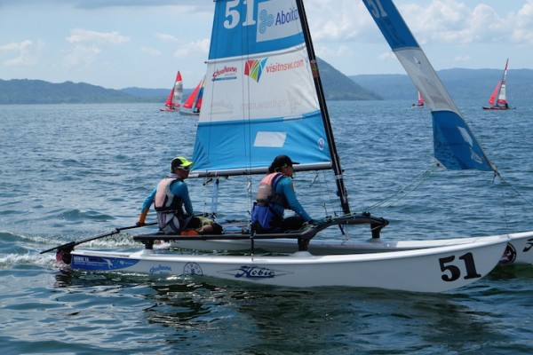One of the Participating team at the Philippine Hobie National Championships