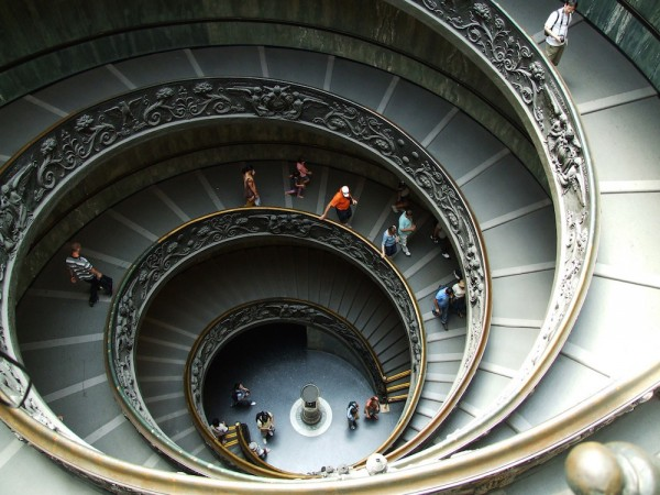 Staircase inside St Peters Basilica
