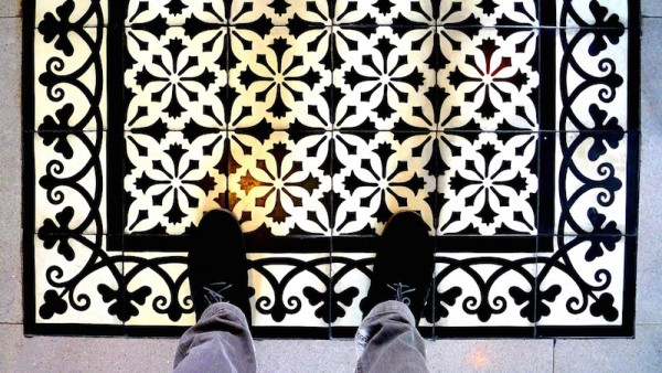 Vintage-tiled flooring