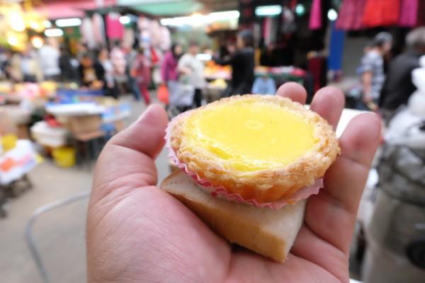 freshly-baked egg tart