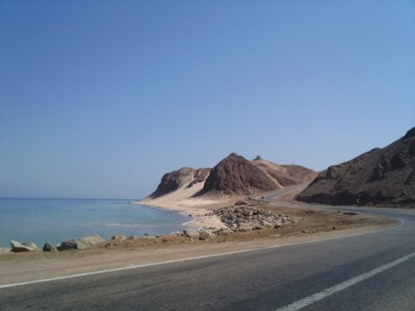 A lovely panorama of Nuweiba's coast