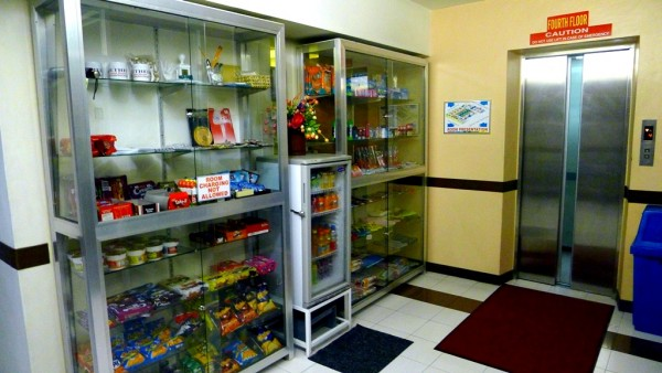 Convenience store on the fourth floor