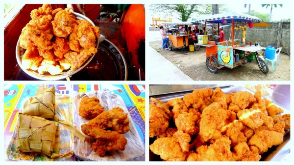 Fried chicken on a food cart for only 10 pesos