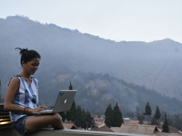 Home office in Mt Bromo, Indonesia