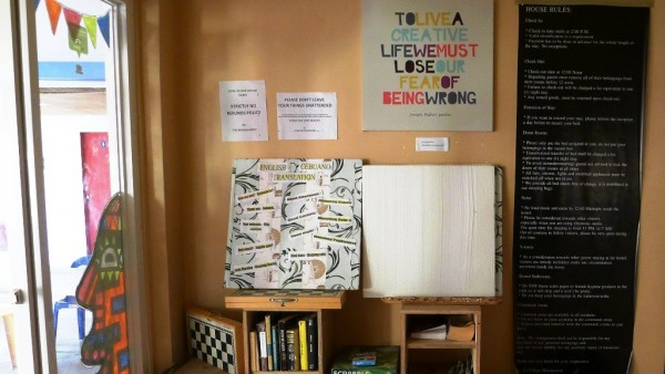 Mini-library and board games