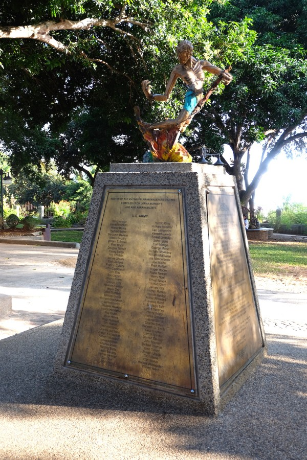 Palawan Massacre Victims Monument in Plaza Cuartel