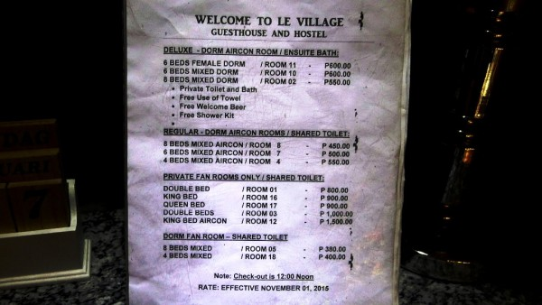 Published Room Rates