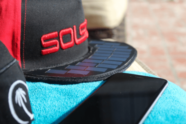 Solar Powered hat that charges your mobile devices