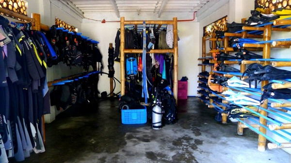 Storage for Diving Paraphernalia