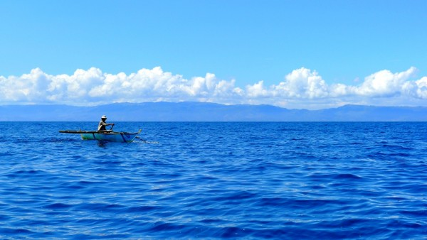 Tanon Strait with Negros Island as backdrop