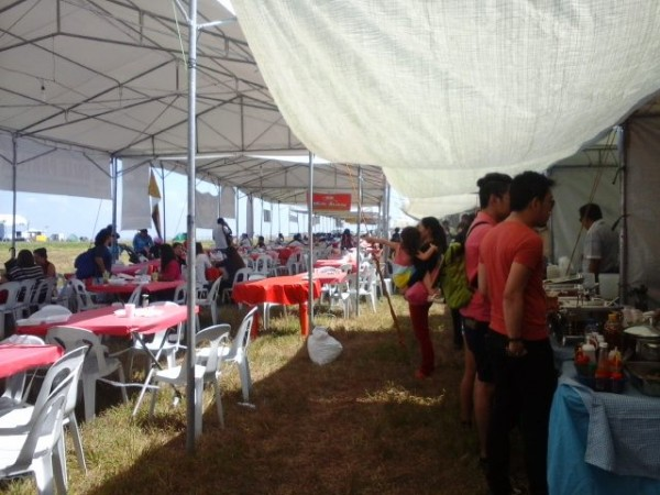 The food area