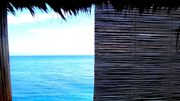 View from our bamboo veranda
