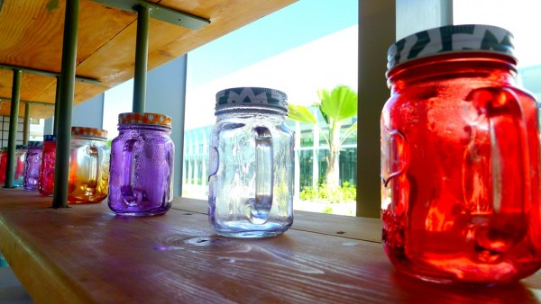 Colorful jar decors