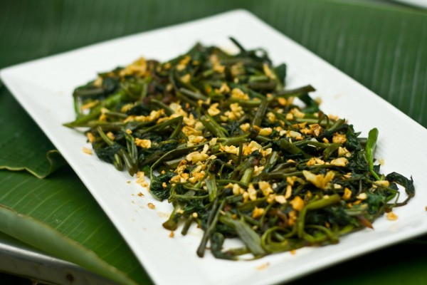 Garden vegetables sauteed in a healthy dish of kangkong