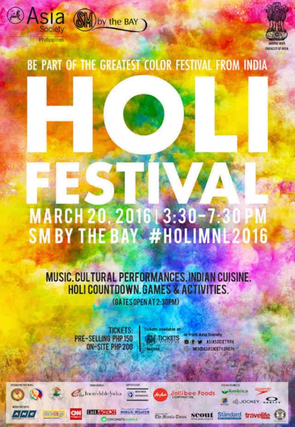 Experience the Colors of India at Holi Festival Manila 2016 - Out of ...