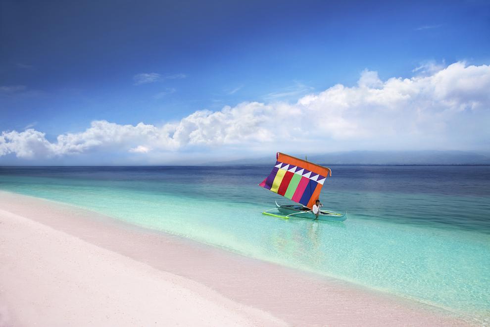 Pink Beach In Sta Cruz Island
