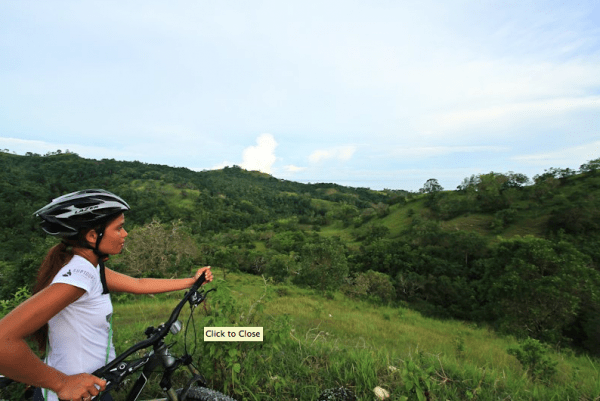 Scenic mountain biking tour