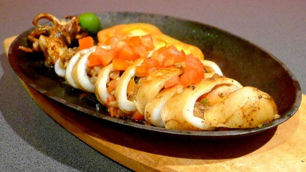 Sizzling Squid Stuffed with Sisig at PHP280