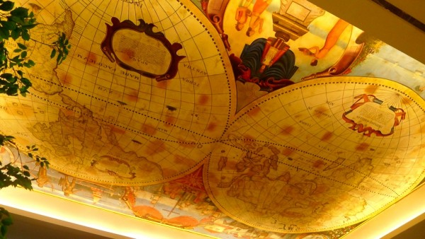 Ceiling painting at the grand lobby