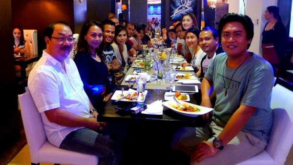 Dinner with Ola and Le Village Management