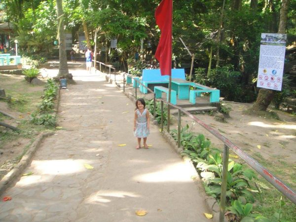 Luna finds herself in a big playground with lots of trees and four natural springs