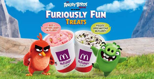 McDonald's Angry Birds Desserts