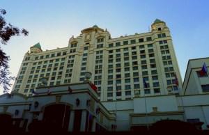 Modern castle facade