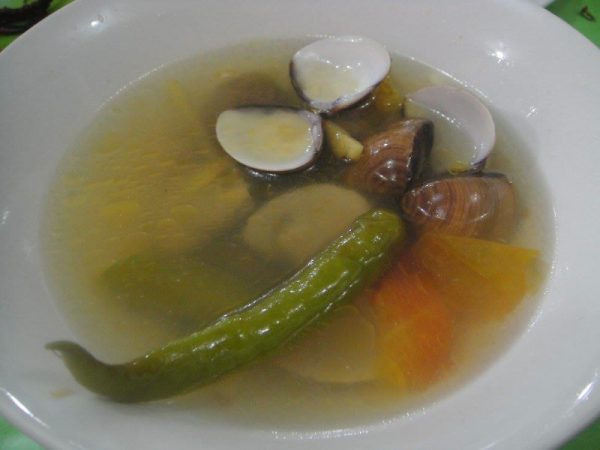 Tasty clam soup at Yolly's