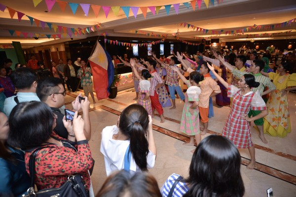 The Philippine Flag waived proudly at the end of Pas Des Tous performance