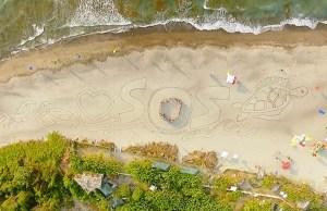 Save Our Seas sand art by AG Sano