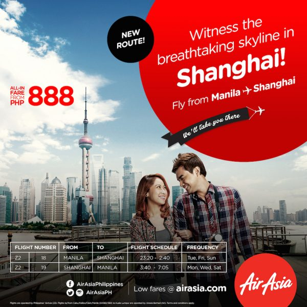 direct flights to Shanghai from Manila