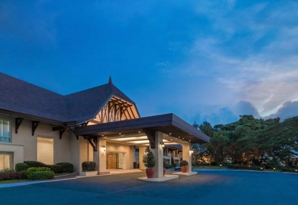 Taal Vista Facade Night - Tagaytay Luxury Hotels